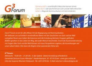 Abbildung des ersten Flyers vom Gesprächskreis G3-Forum